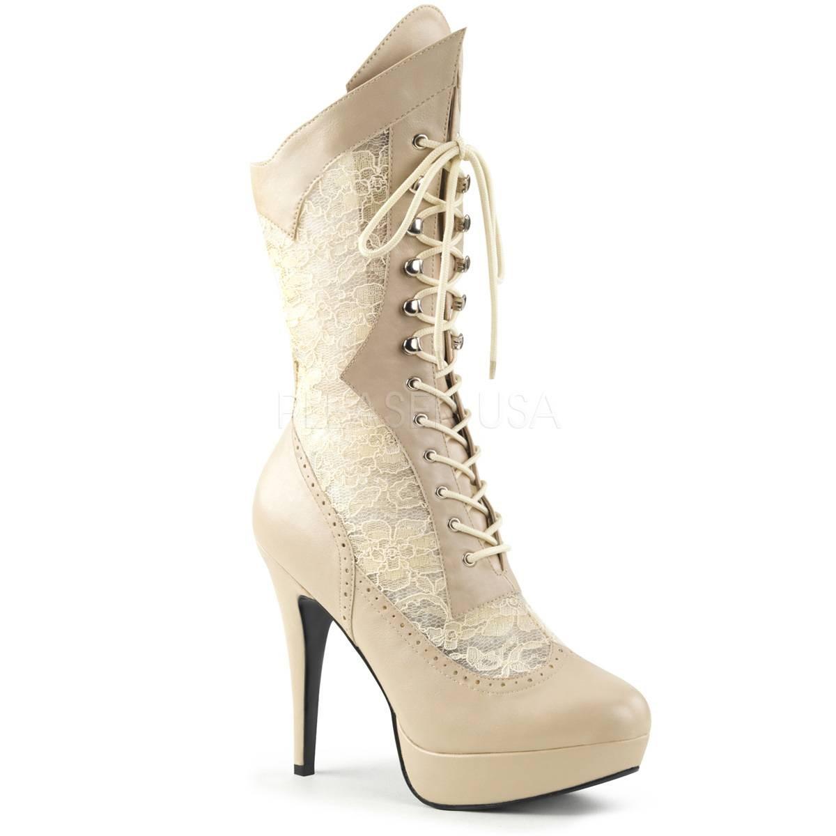 Stiefel - CHLOE 115 ° Damen Stiefel ° BeigeMatt ° Pleaser Pink Label  - Onlineshop RedSixty