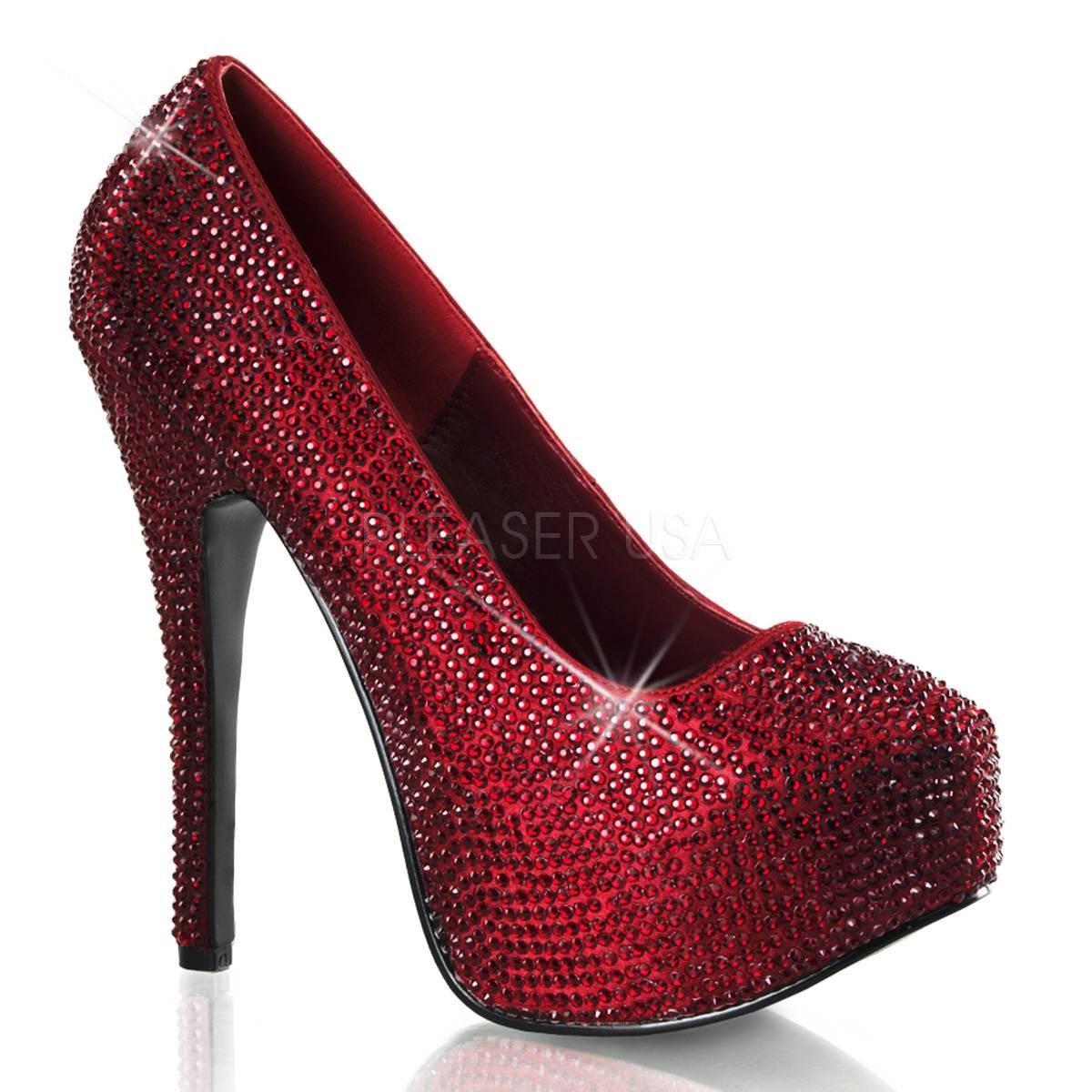 Highheels für Frauen - TEEZE 06R ° Damen Pumps ° Rot Satin ° Bordello  - Onlineshop RedSixty