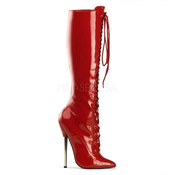 DAGGER 2020 ° Damen Stiefel ° Rot Glänzend ° Devious