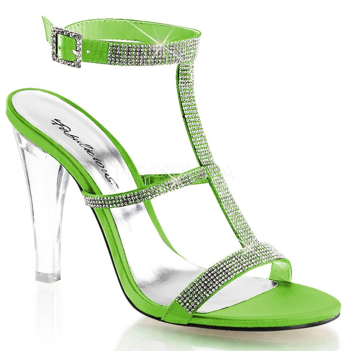 Sandalen - CLEARLY 418 ° Damen Sandalette ° Grün Satin ° Fabulicious  - Onlineshop RedSixty