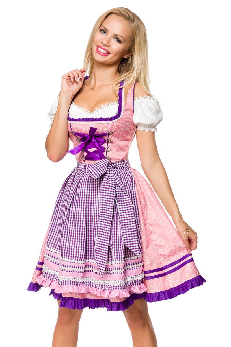 Dirndl mit Karoschürze ° Rosa-Lila ° Dirndline   Dirndl   Fashion   RedSixty a3241efe24