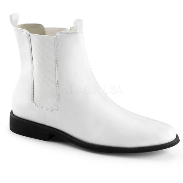 TROOPER 12 ° Herren Chelsea Boots ° Weiß Matt ° Funtasma