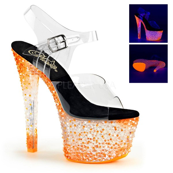 CRYSTALIZE 308PS ° Damen Sandalette ° Transparent Matt ° Pleaser