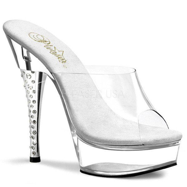 DIAMOND 601 ° Damen Sandalette ° Transparent Matt ° Pleaser