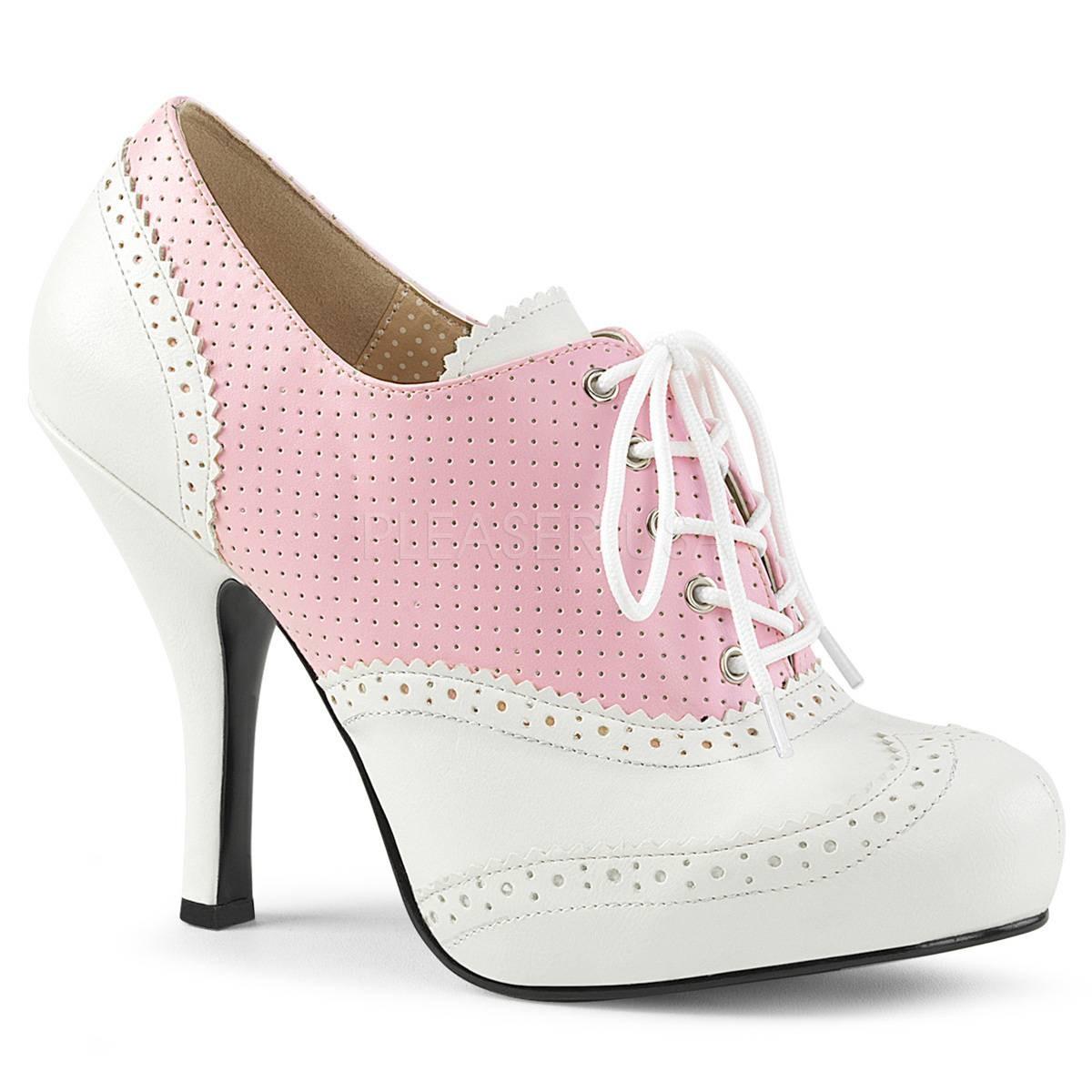 Stiefel für Frauen - PINUP 07 ° Damen Stiefelette ° RosaMatt ° Pleaser Pink Label  - Onlineshop RedSixty