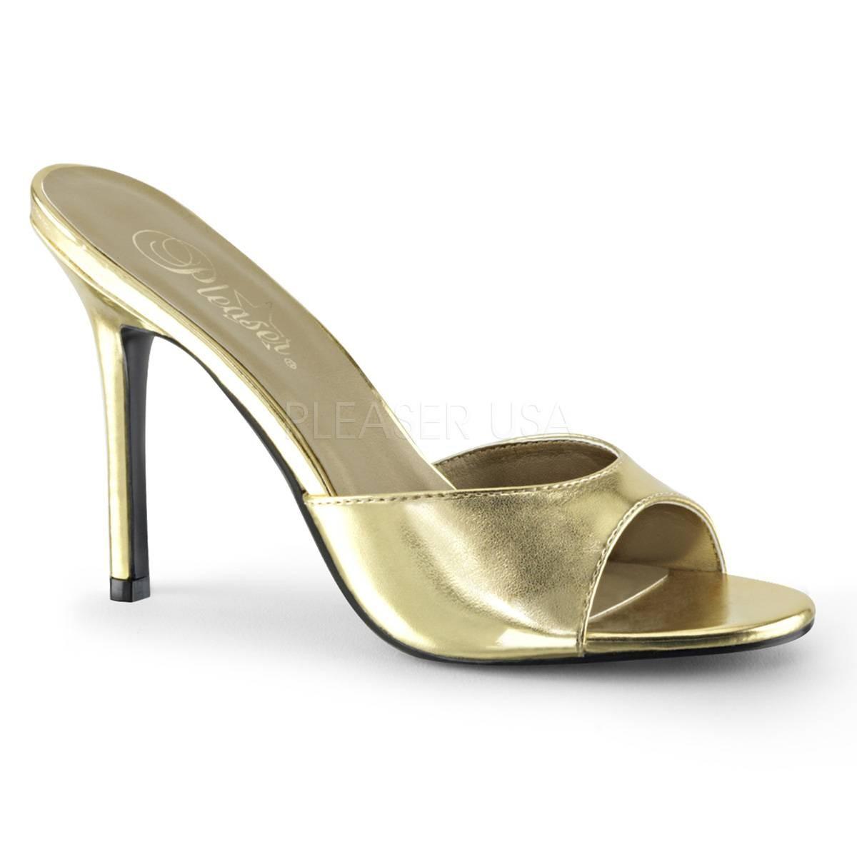 Sandalen - CLASSIQUE 01 ° Damen Sandalette ° GoldMatt ° Pleaser  - Onlineshop RedSixty