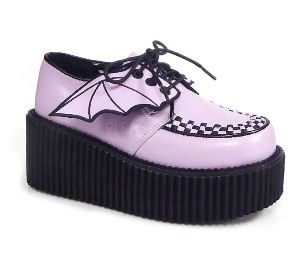 CREEPER 205 ° Damen Creeper ° LilaMatt ° Demonia
