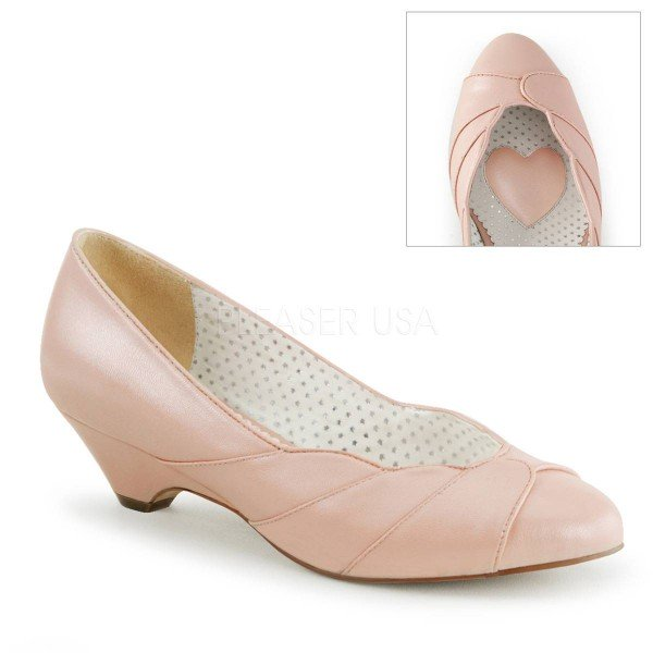 LULU 05 ° Damen Pumps ° RosaMatt ° Pin Up Couture