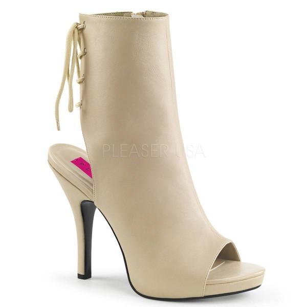 EVE 102 ° Damen Stiefelette ° BeigeMatt ° Pleaser Pink Label