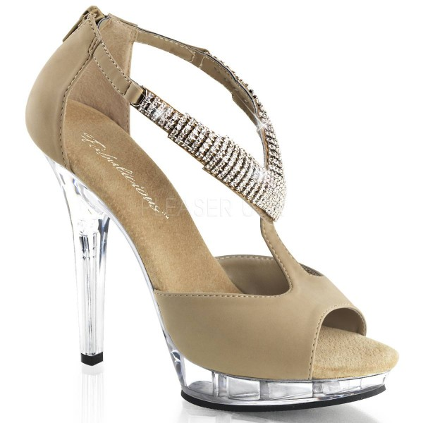 LIP 155 ° Damen Sandalette ° Beige Matt ° Fabulicious