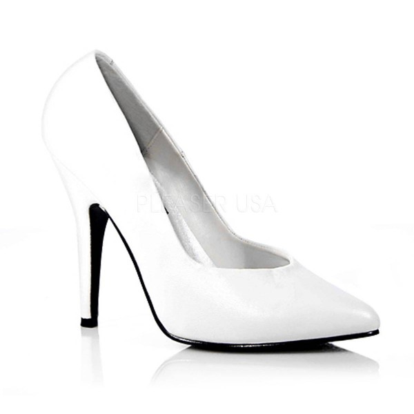 SEDUCE 420 ° Damen Pumps ° Weiß Leder ° Pleaser