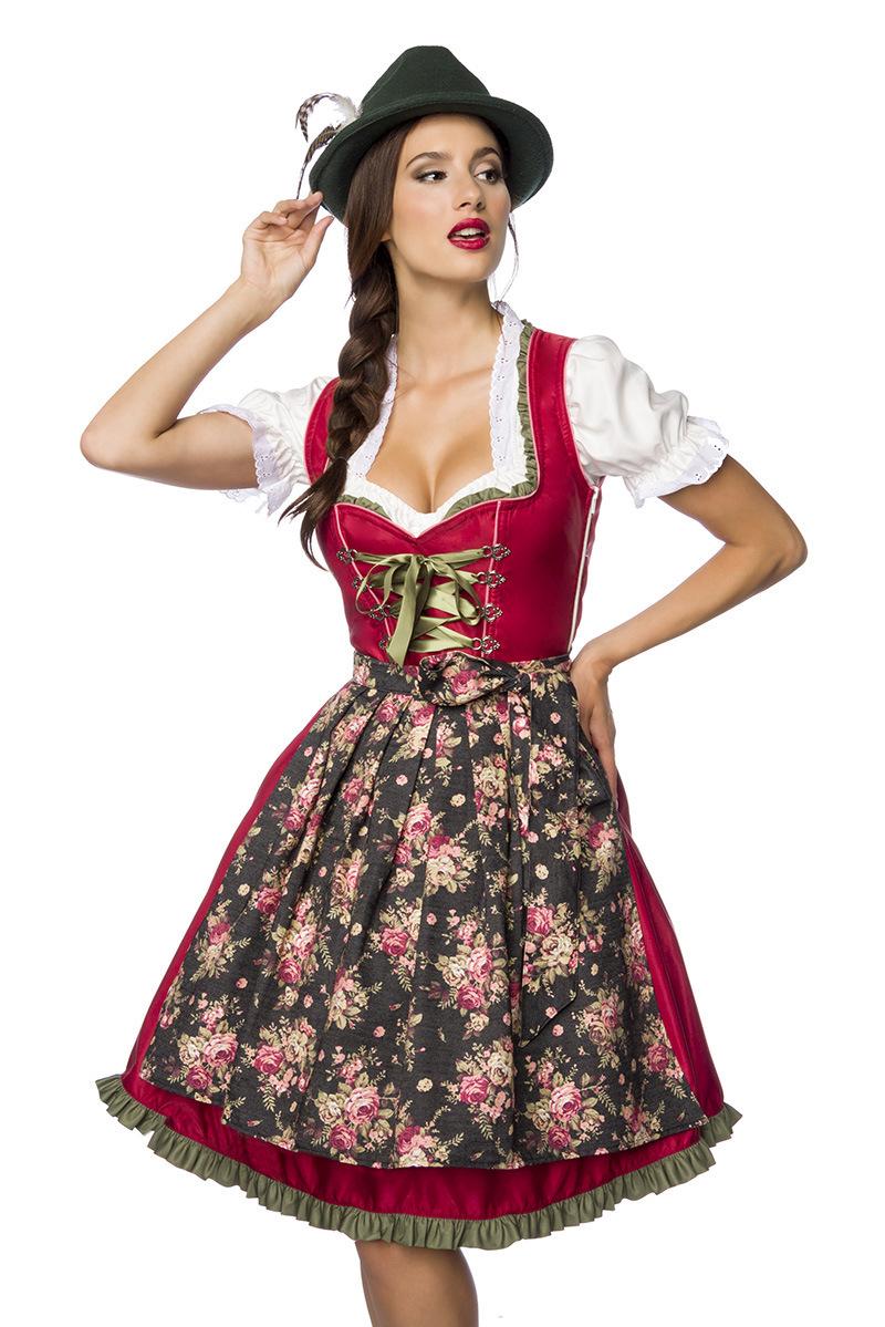 Verträumtes Dirndl mit Denim ° Rot-Grün ° Dirndline   Dirndl   Fashion    RedSixty 52250f1d66