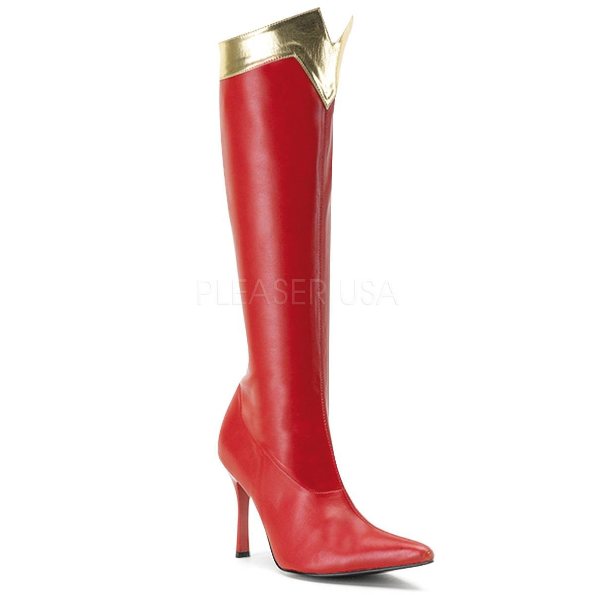 Stiefel - WONDER 130 ° Damen Overknee Stiefel ° Rot Gold Matt ° Funtasma  - Onlineshop RedSixty