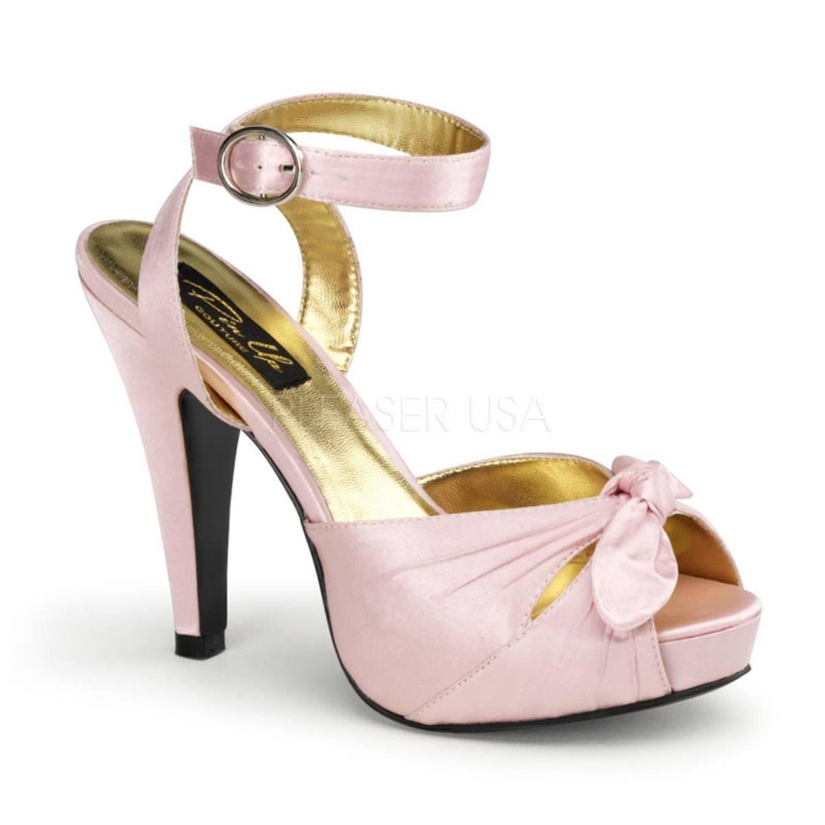Sandalen - BETTIE 04 ° Damen Sandalette ° Pink Satin ° Pin Up Couture  - Onlineshop RedSixty