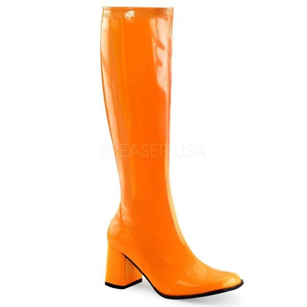 GOGO 300UV ° Damen Stiefel ° Orange Glänzend ° Funtasma
