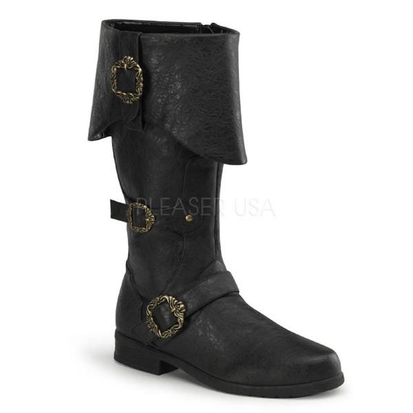 CARRIBEAN 299 ° Herren Boots ° Schwarz Matt ° Funtasma