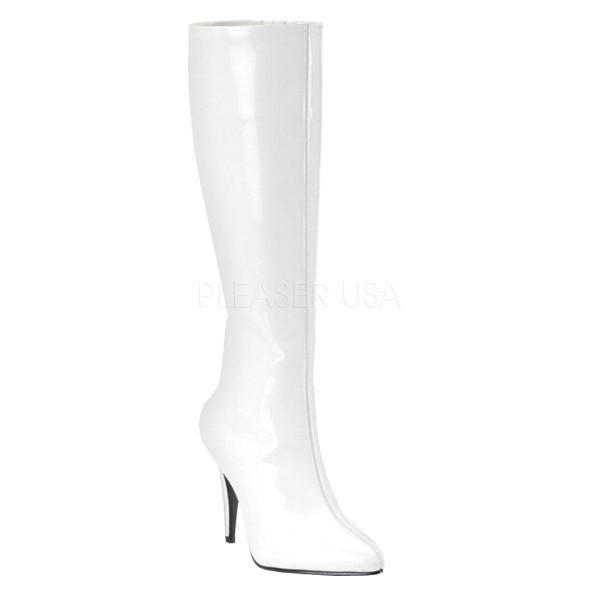 LUST 2000 ° Damen Stiefel ° Weiß Glänzend ° Funtasma