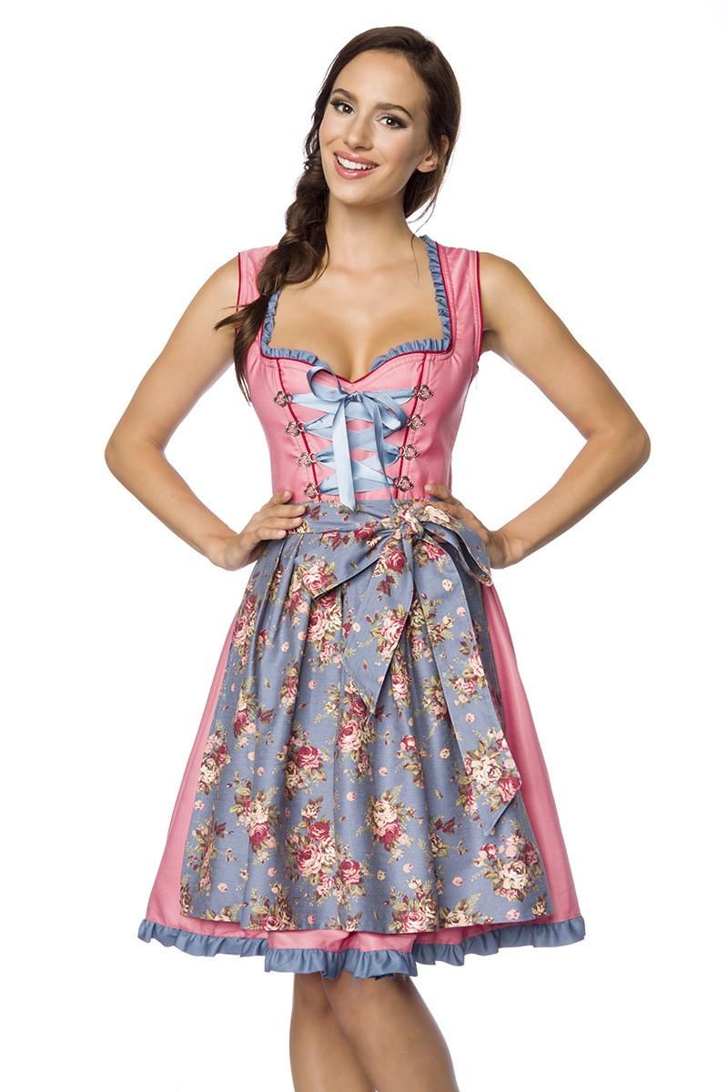 Kleider - Verträumtes Dirndl mit Denim ° Rosa Blau ° Dirndline  - Onlineshop RedSixty