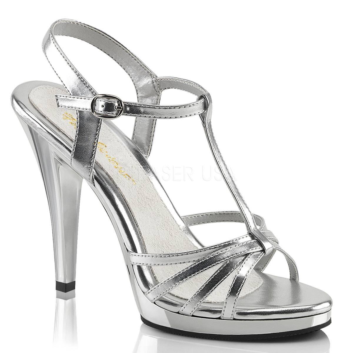 Sandalen - FLAIR 420 ° Damen Sandalette ° SilberMatt ° Fabulicious  - Onlineshop RedSixty