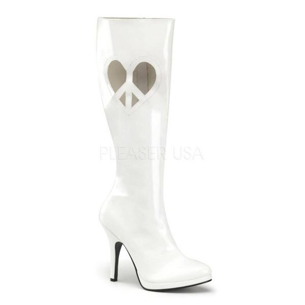 LOVE 270 ° Damen Stiefel ° Weiß Glänzend ° Funtasma