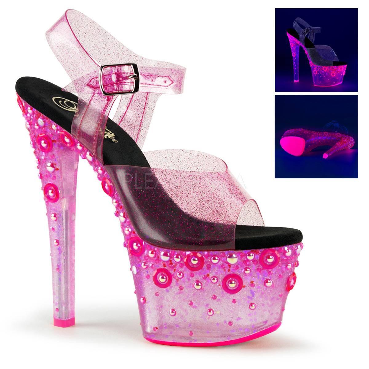 Highheels - SKY 308UVMG ° Damen Sandalette ° Pink Matt ° Pleaser  - Onlineshop RedSixty