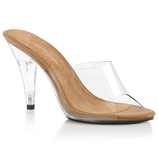 CARESS 401 ° Damen Sandalette ° Transparent Matt ° Fabulicious