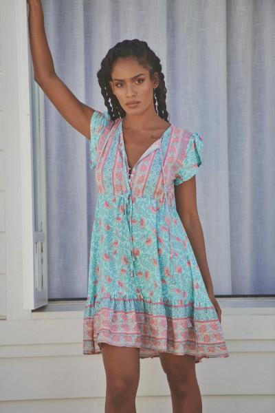 Jaase ° Pegaso Print Faithful Mini Dress ° Blau