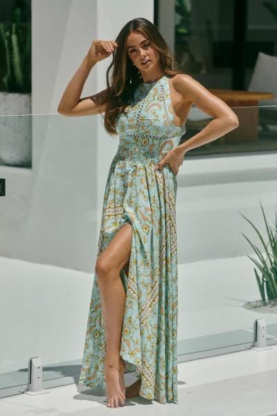 Jaase ° Marshmellow Print Endless Summer Dress ° Mint