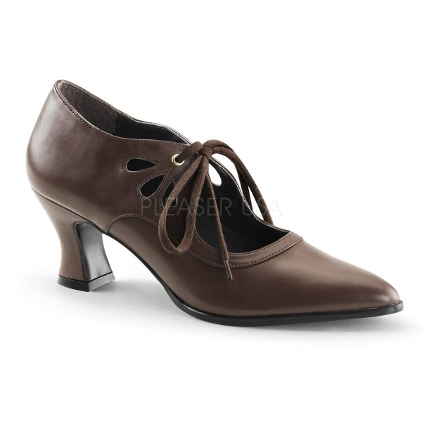 VICTORIAN 03 ° Damen Pumps ° Braun Matt ° Funtasma