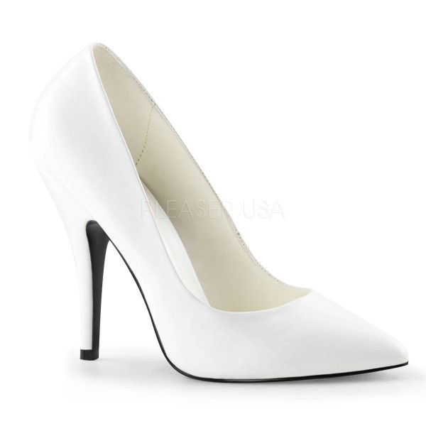 SEDUCE 420 ° Damen Pumps ° Weiß Matt ° Pleaser