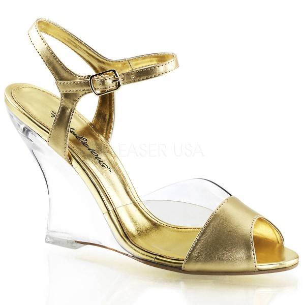 LOVELY 442 ° Damen Sandalette ° Gold Matt ° Fabulicious