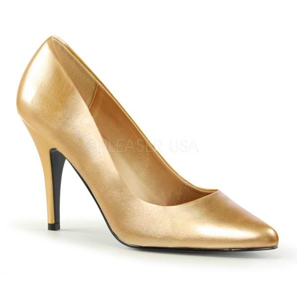 VANITY 420 ° Damen Pumps ° Gold Matt ° Pleaser