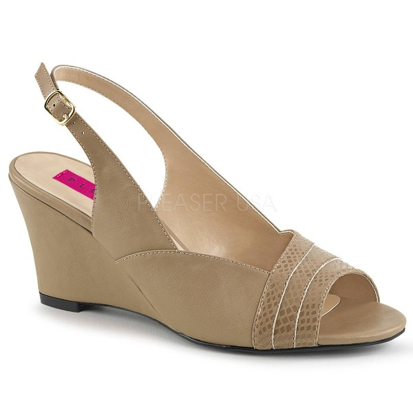 KIMBERLY 01SP ° Damen Sandalette ° BeigeMatt ° Pleaser Pink Label