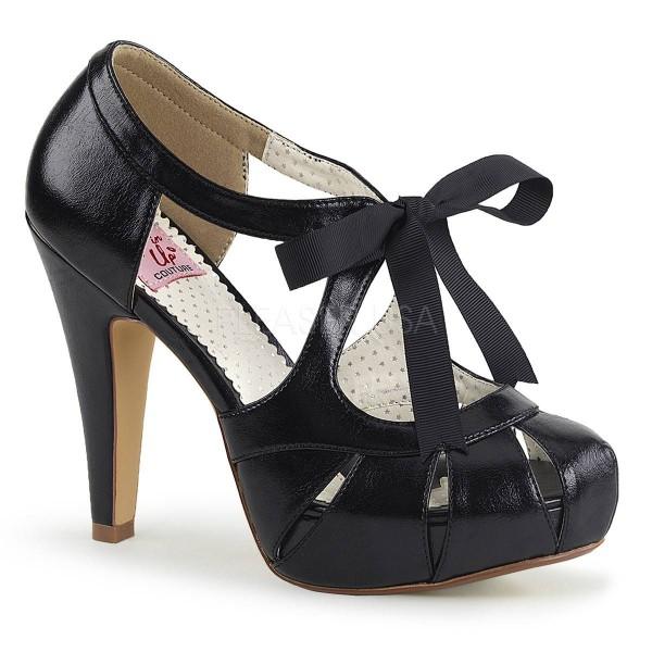 BETTIE 19 ° Damen Sandalette ° SchwarzMatt ° Pin Up Couture