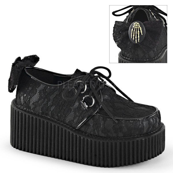 CREEPER 212 ° Damen Creeper ° Schwarz Matt ° Demonia