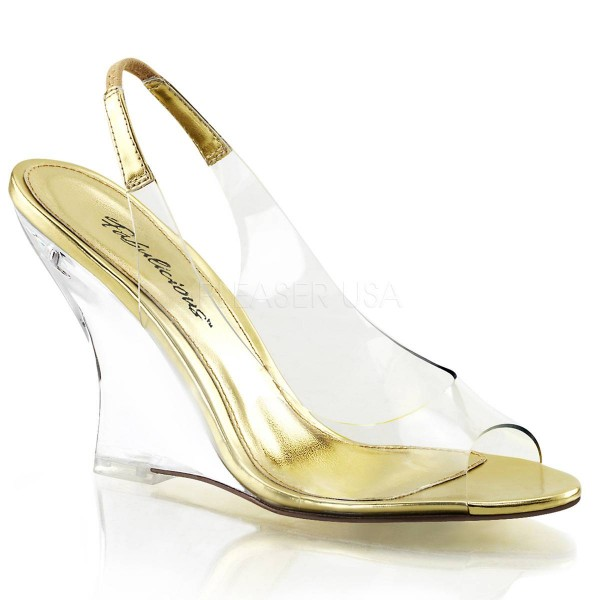 LOVELY 450 ° Damen Sandalette ° Transparent Matt ° Fabulicious