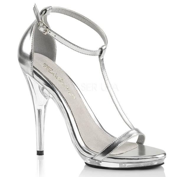 POISE 526 ° Damen Sandalette ° SilberMatt ° Fabulicious