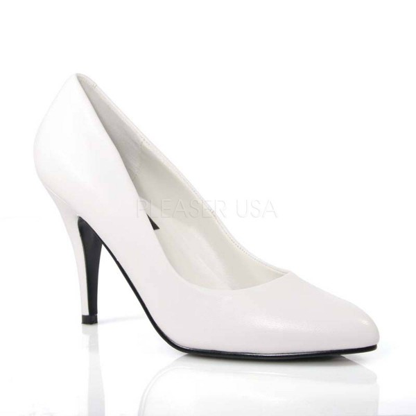 VANITY 420 ° Damen Pumps ° Weiß Leder ° Pleaser