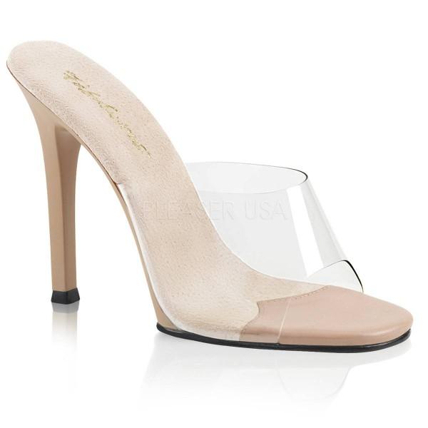 GALA 01 ° Damen Sandalette ° TransparentMatt ° Fabulicious