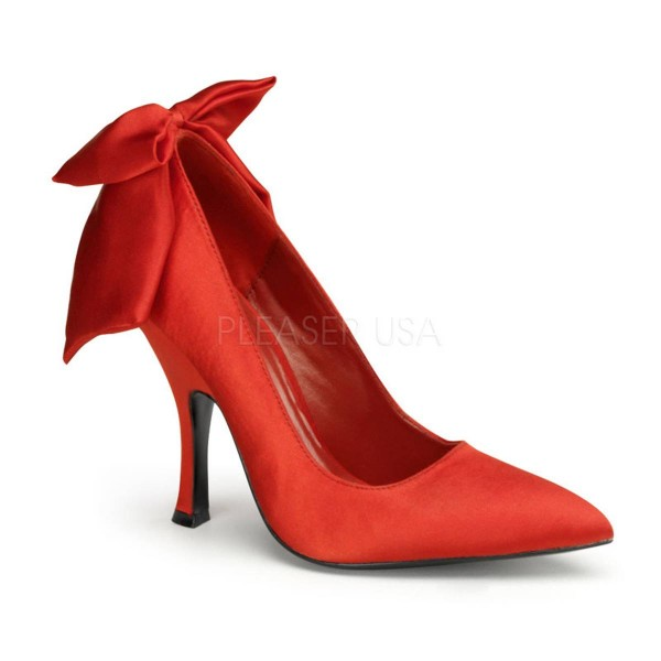 BOMBSHELL 03 ° Damen Pumps ° Rot Satin ° Pin Up Couture
