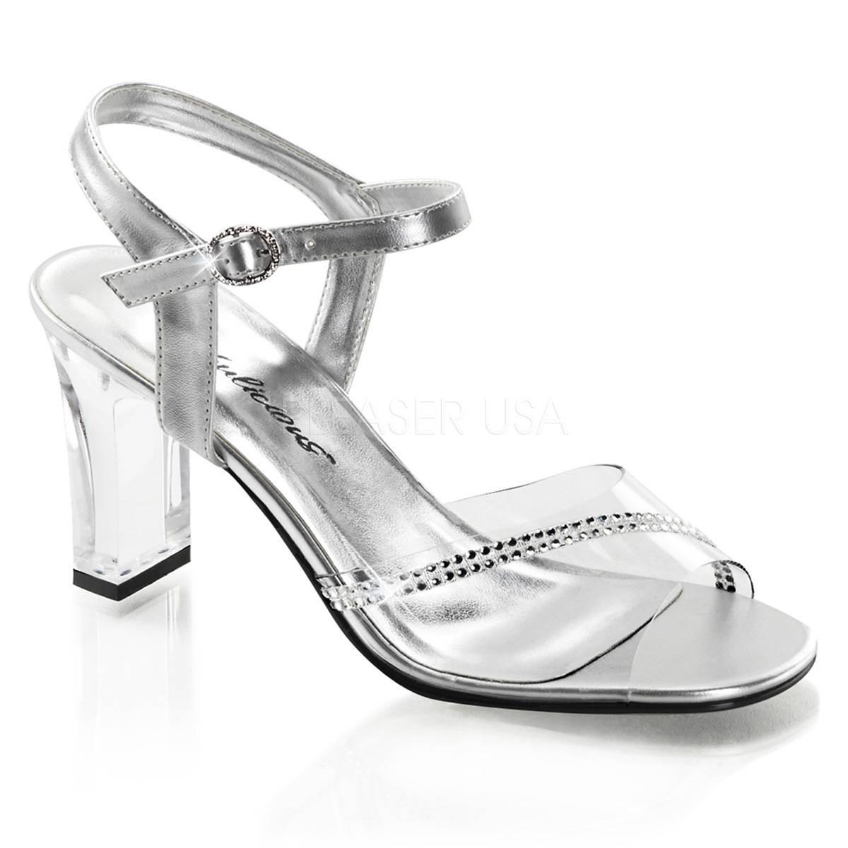 Sandalen - ROMANCE 308R ° Damen Sandalette ° Silber Matt ° Fabulicious  - Onlineshop RedSixty
