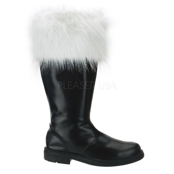 SANTA 108 ° Herren Stiefel ° Schwarz Weiß Matt ° Funtasma