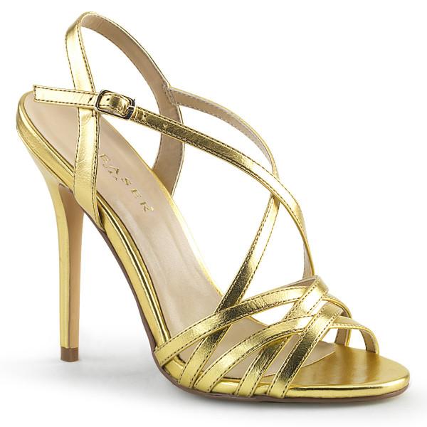 AMUSE-13 ° Damen Sandale ° Gold ° matt ° Pleaser