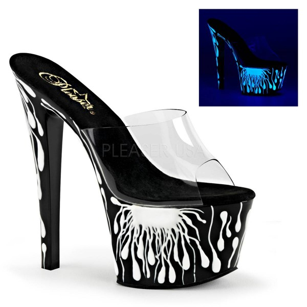 SKY 301 5 ° Damen Sandalette ° Transparent Matt ° Pleaser