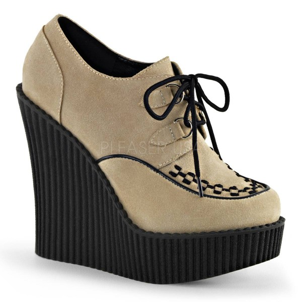 CREEPER 302 ° Damen Creeper ° Beige Matt ° Demonia