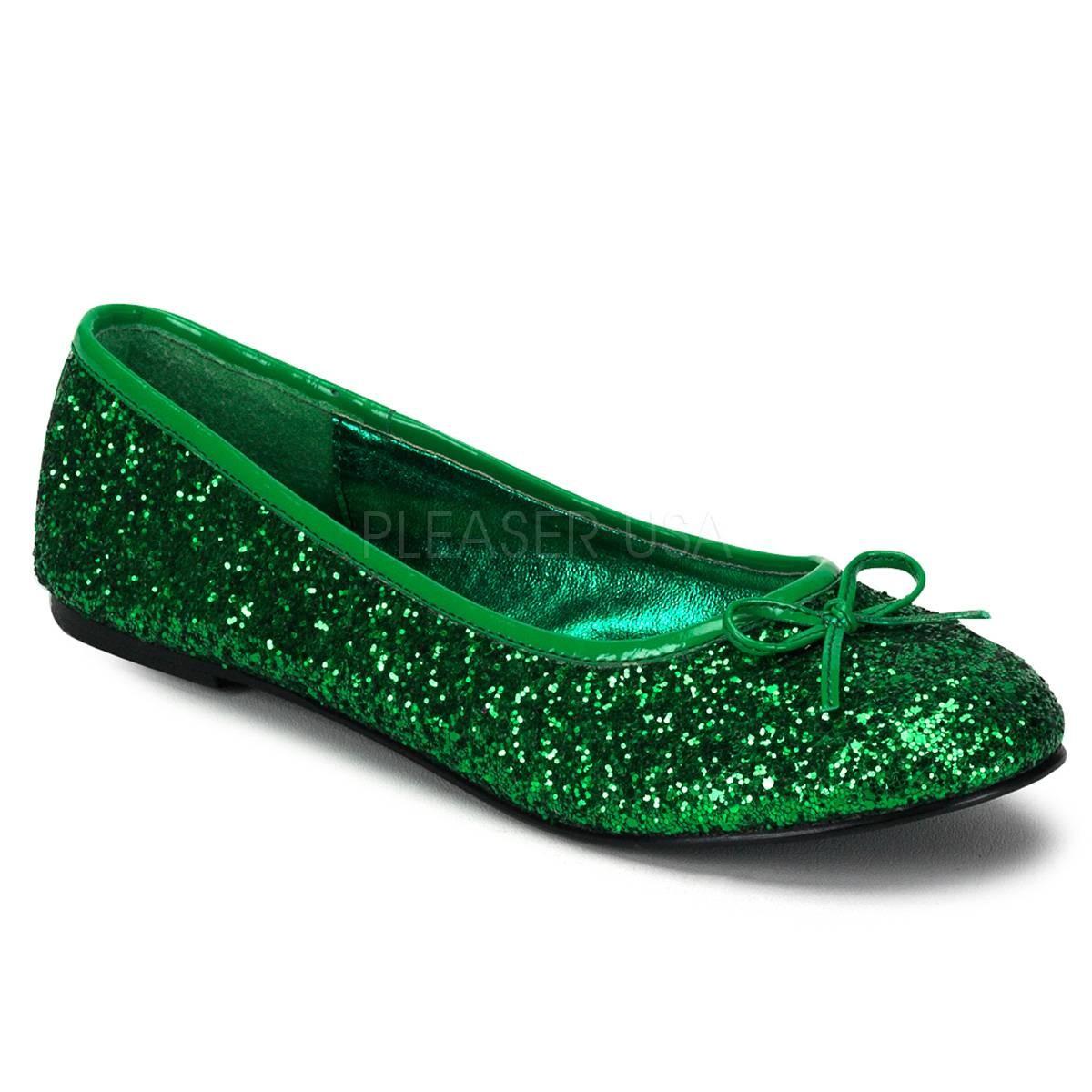 Ballerinas - STAR 16G ° Damen Ballerina ° Grün Glitter ° Funtasma  - Onlineshop RedSixty