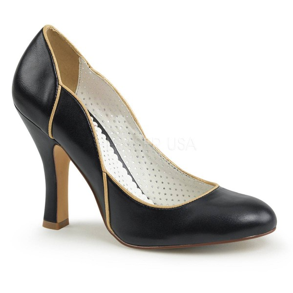 SMITTEN 04 ° Damen Pumps ° SchwarzMatt ° Pin Up Couture