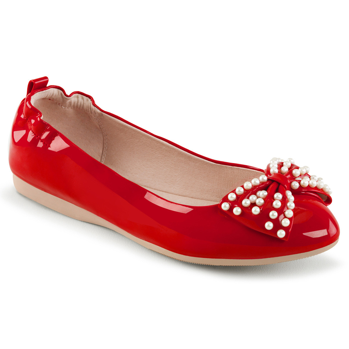 Ballerinas - IVY 09 ° Damen Ballerina ° Rot Lack ° Pin Up Couture  - Onlineshop RedSixty