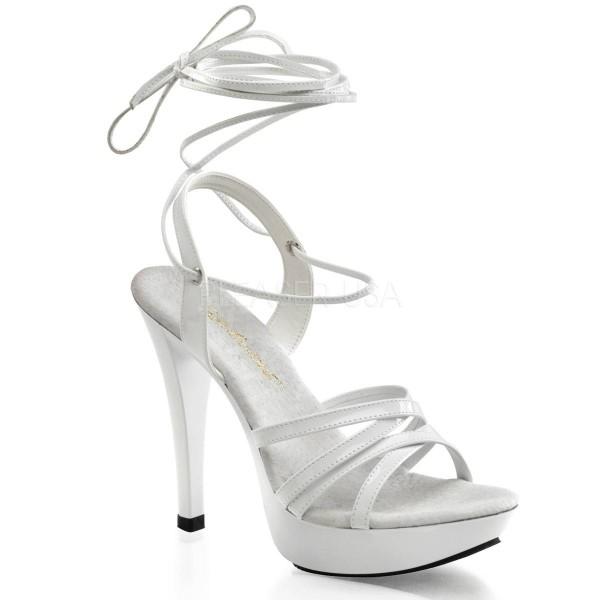 COCKTAIL 512 ° Damen Sandalette ° Weiß Glänzend ° Fabulicious