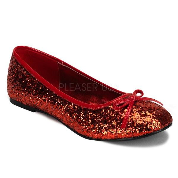 STAR 16G ° Damen Ballerina ° Rot Glitter ° Funtasma